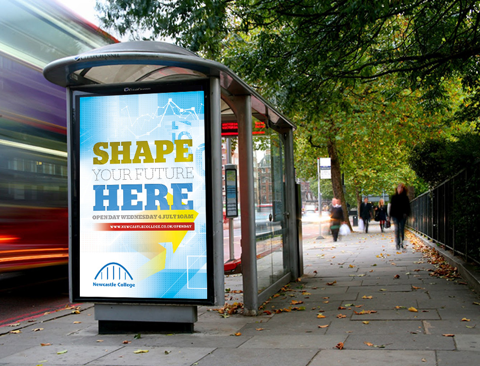 newcastle-college-enrolment-campaign-bus-stop