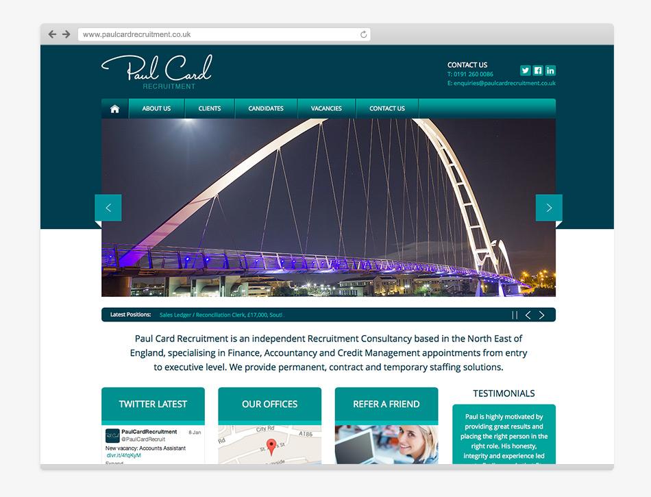 Paul Card Recruitment Homepage