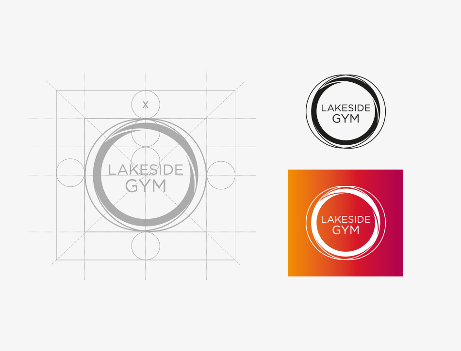 Lakeside Gym logo design